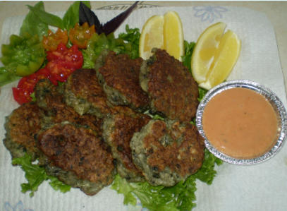 Beautiful Paua fritters caught and cooked to perfection by your hostess Jenny. Don't they look delicious?